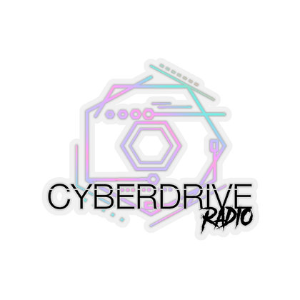Cyber Drive Stickers (Black Text)