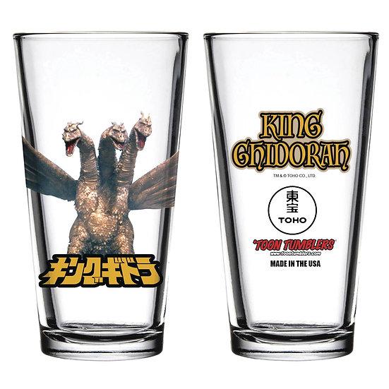 TOON TUMBLERS KING GHIDORAH FIGURE PINT GLASS