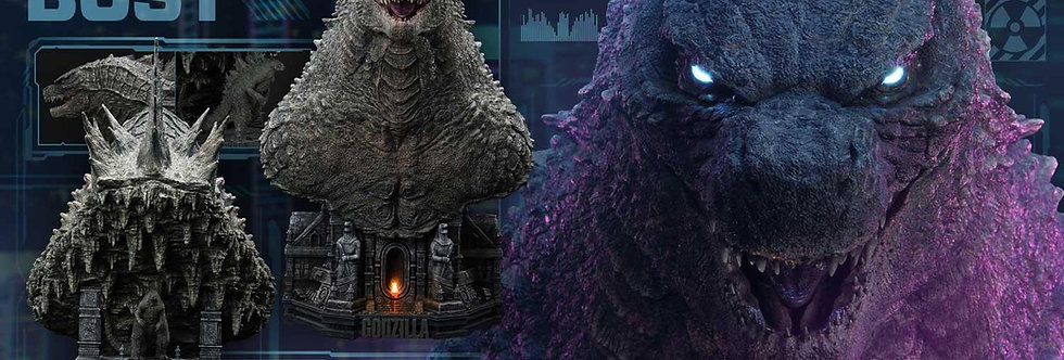 Life Size Godzilla vs Kong Godzilla Bust - Bonus Version!