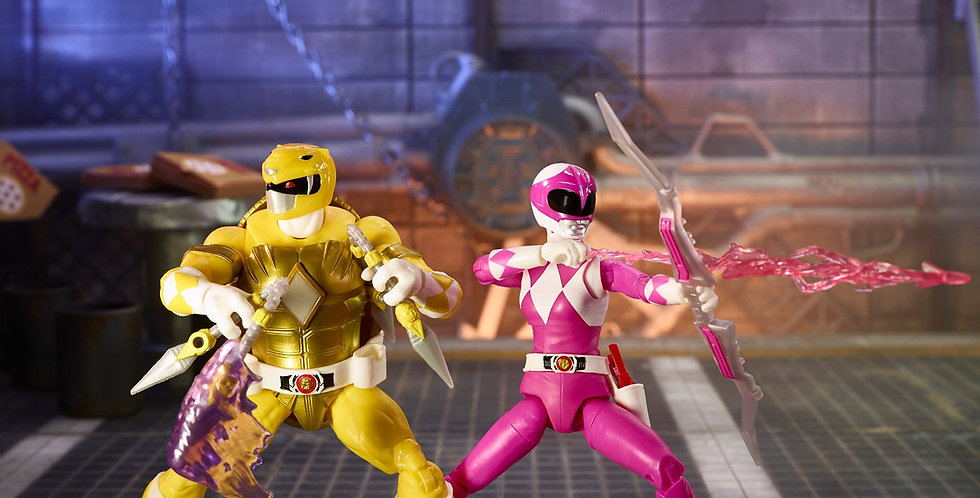 MMPR X TMNT Lightning Collection Morphed Michelangelo and April