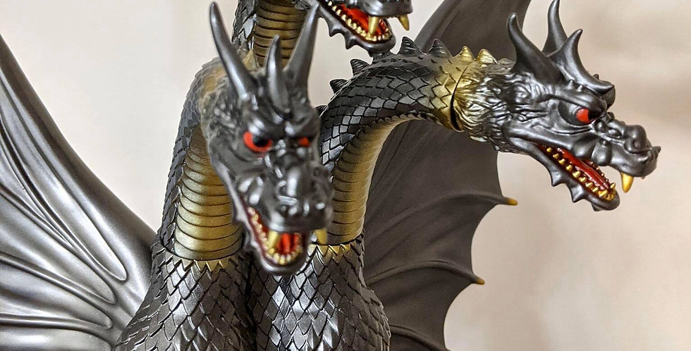 GigaBrain Gun-Metal Gray / Gold King Ghidorah