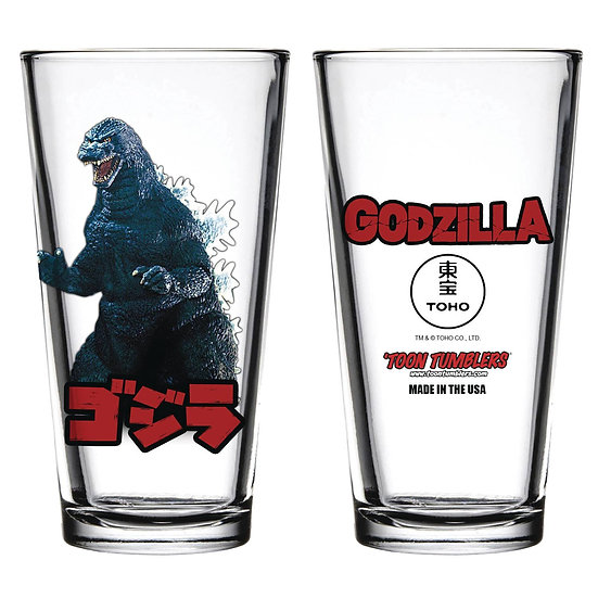 TOON TUMBLERS GODZILLA FIGURE PINT GLASS