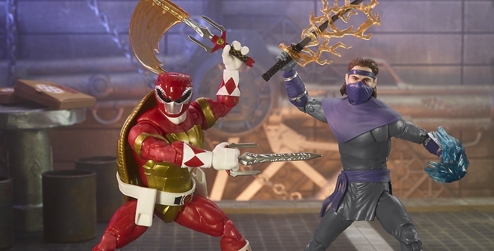 MMPR X TMNT Lightning Collection Morphed Raphael & Foot Soldier Tommy