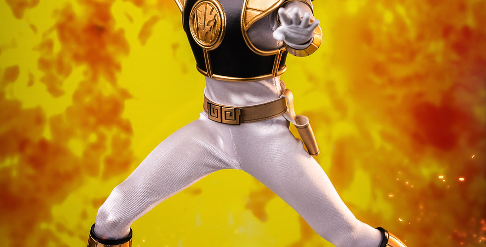 MIGHTY MORPHIN POWER RANGERS WHITE RANGER 1/6 SCALE AF