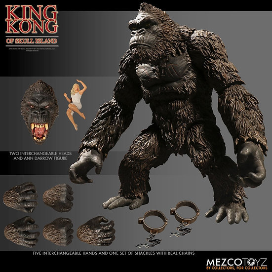 "MEZCO TOYS KING KONG OF SKULL ISLAND 7"" ACTION FIGURE"
