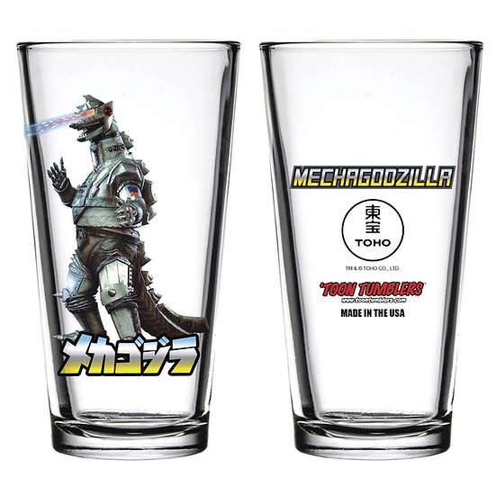 TOON TUMBLERS MECHAGODZILLA FIGURE PINT GLASS
