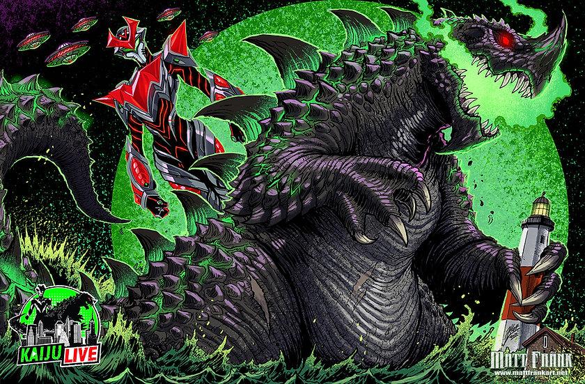 """11x17"""" Kaiju Live Print Signed by Matt Frank"""