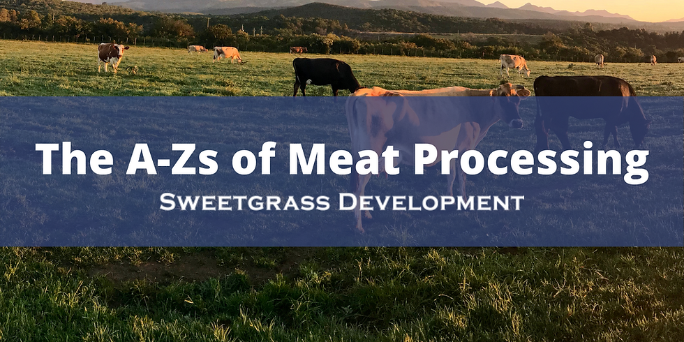 The A-Z of Meat Processing (Afternoon Session)