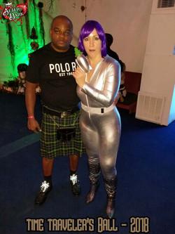 Future girl & Ronnie in Army Tartan