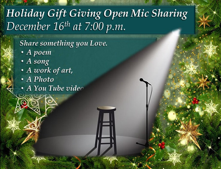 2020 12 16 Holiday Gift Giving open mic