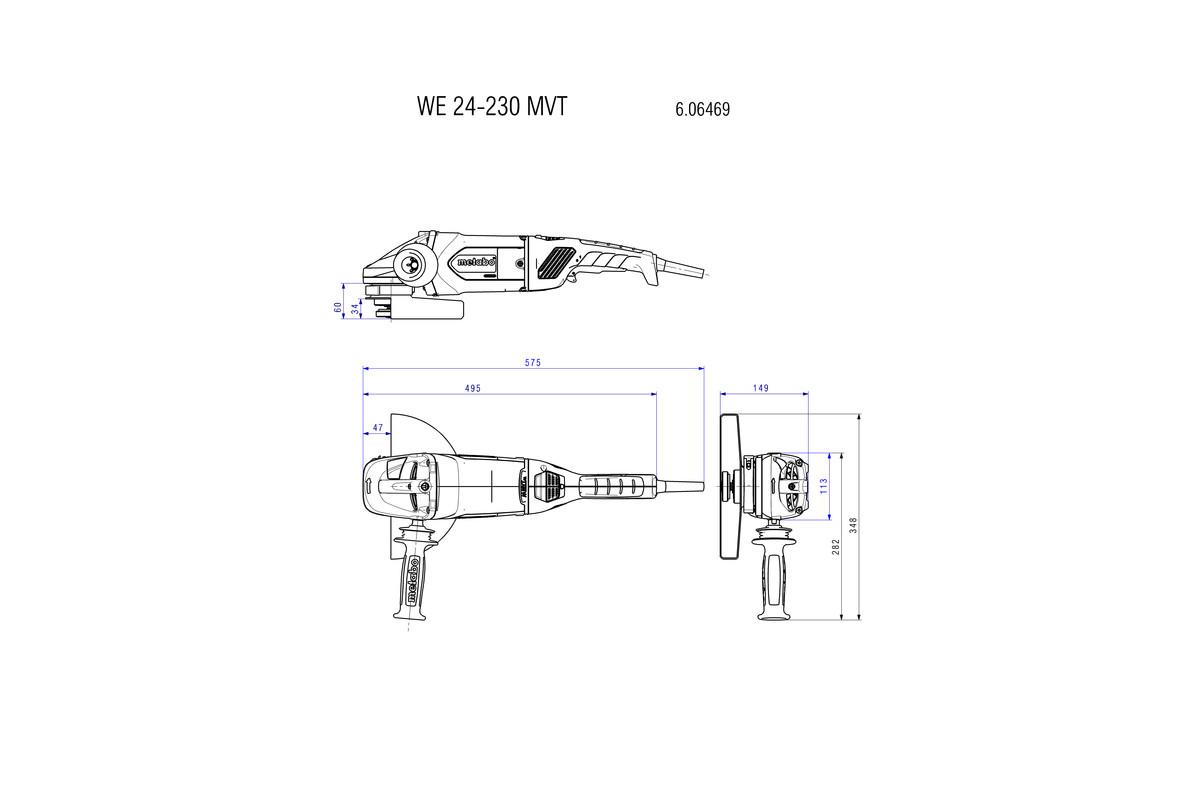מידות משחזת זוית WE 24-230 MVT