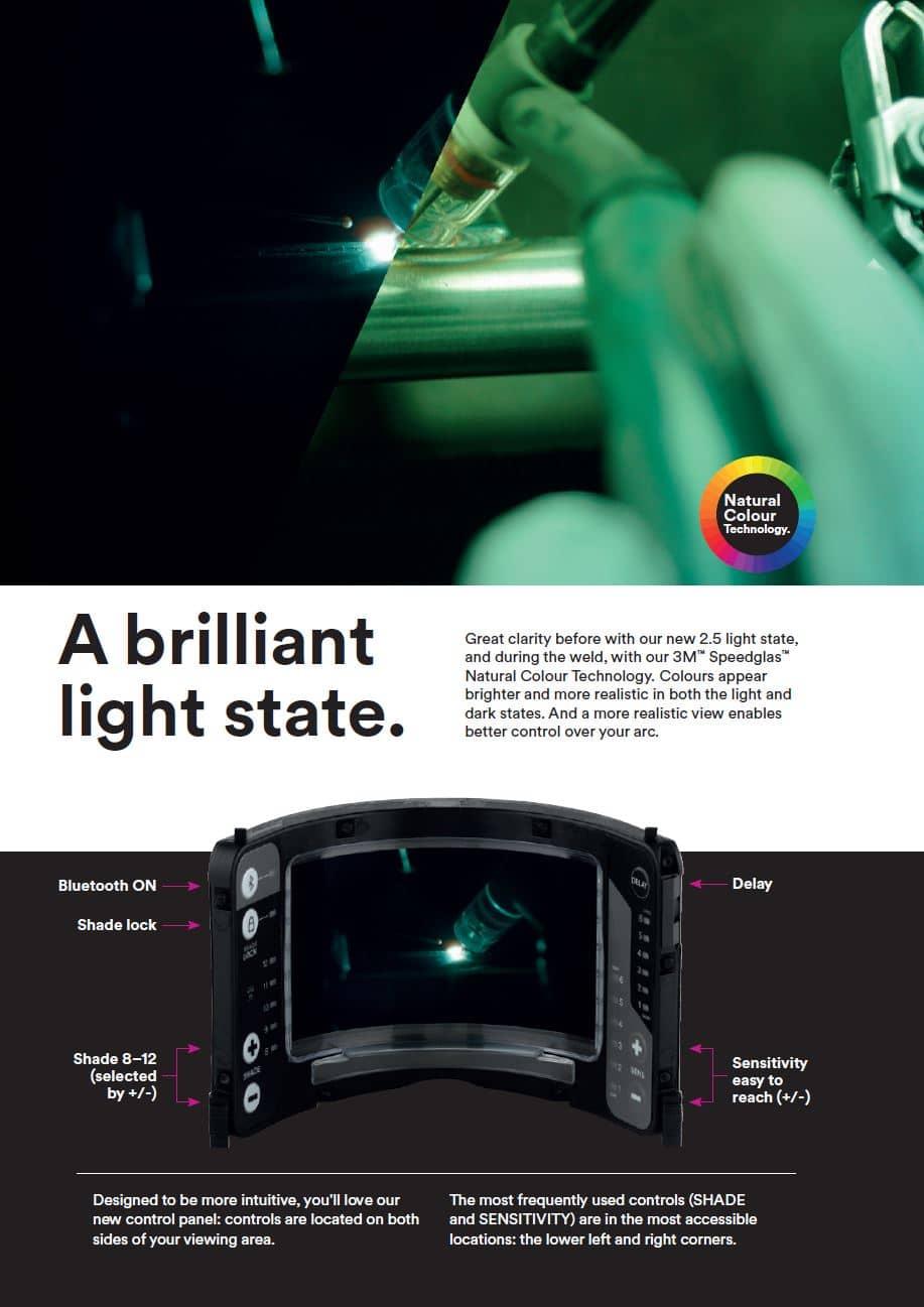 G5-02 מסכת ריתוך עם צבעים טבעיים בהירים יות