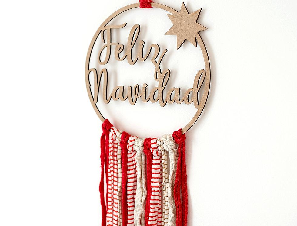 Corona Navidad con felcos