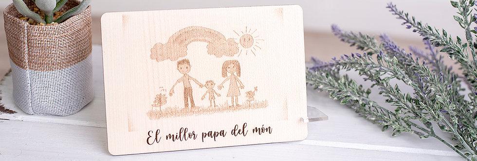Dibujo grabado en madera
