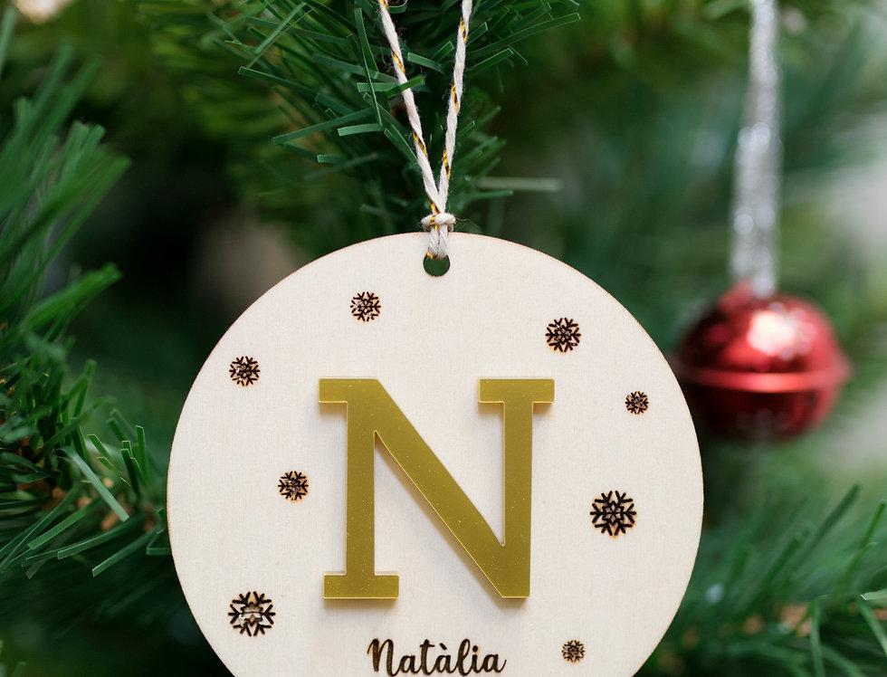Bola de Navidad con nombre relieve