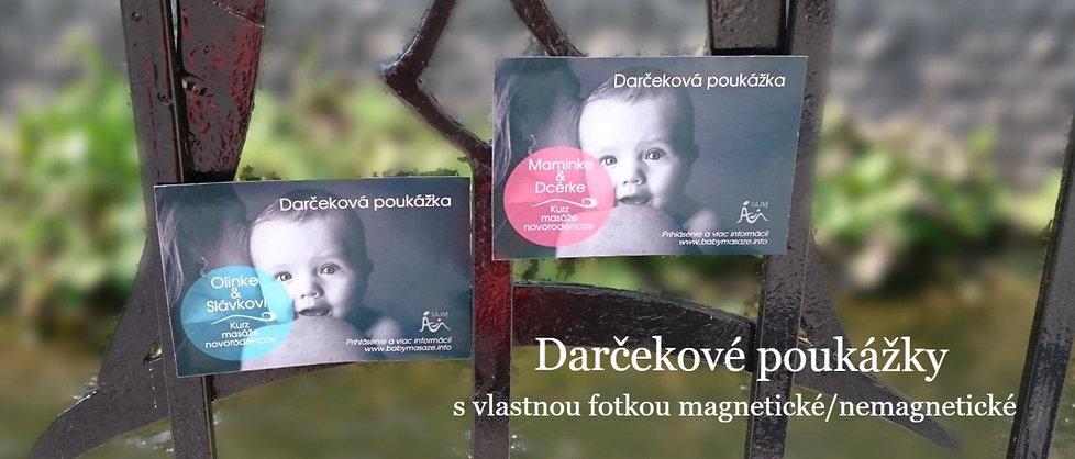 Kurz baby masáže- darčekové poukážky pre mamičky