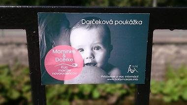 Darčeková poukážka baby masáže