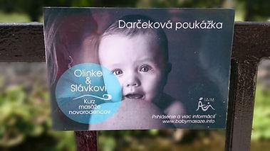 Darčeková poukážka kurz msáže novorodencv