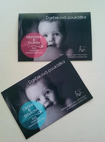 Kurz baby masáže- darčekové poukážky