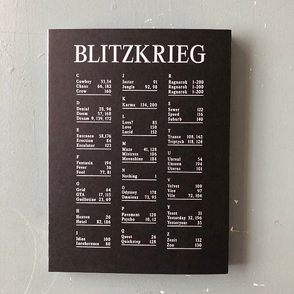 """BLITZKRIEG"" . Blitzkrieg Collective . Coffee Table Photo Book"