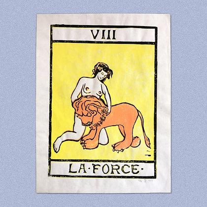 HENRY THE RABBIT . LA FORCE . 30X40 . LINOCUT