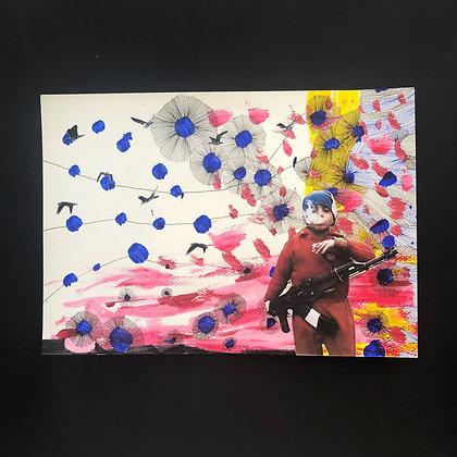 anna kott . 'flower fields' . 30x21 . collage