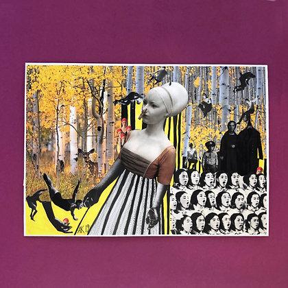 anna kott . 'print I' . 42x30 . collage