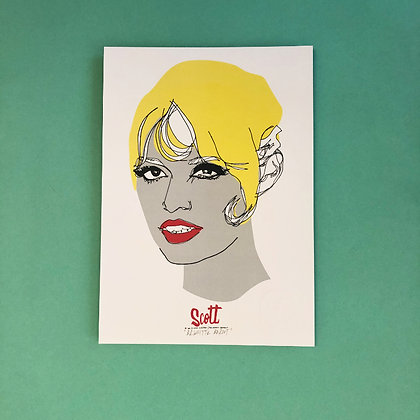 scott caris . 'brigitte baroot' . 30x21 . one off print