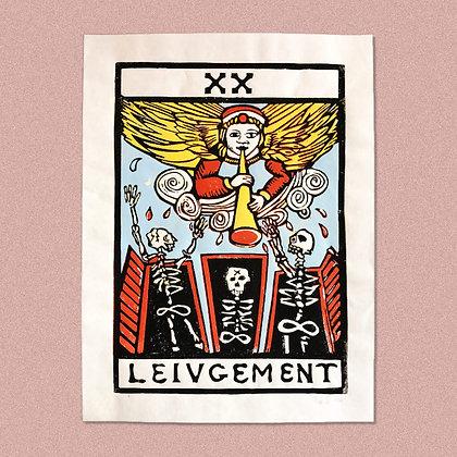 HENRY THE RABBIT . LEIUGEMENT . 30X40 . LINOCUT