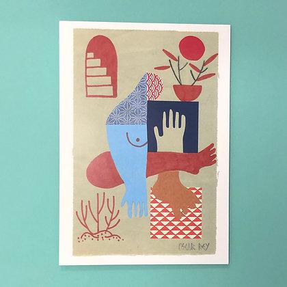 Oscar Rey . No Title I . 42x30 . Print