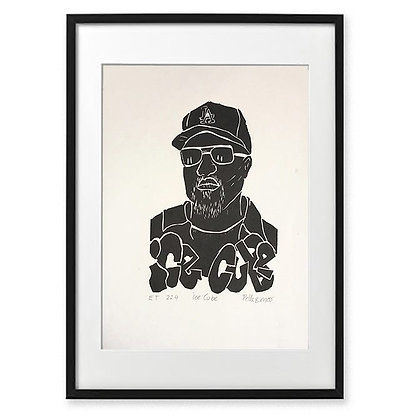 Mette Nissen Johansen . Ice Cube . 21x30 . linocut