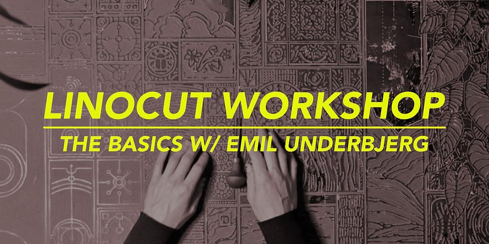 WORKSHOP LINOCUT 20/6 . WITH EMIL UNDERBJERG