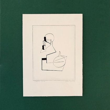 peter basse . 'untitled III' . 36 x 26 . ink drawing