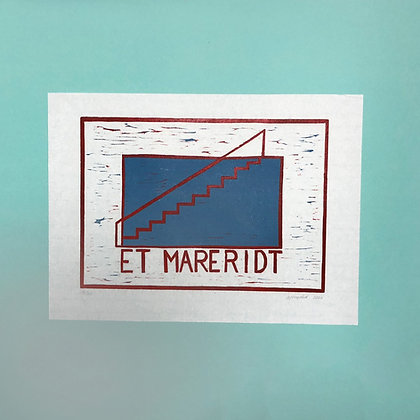 Astrid Kongsted . Et Mareridt . 30 x 42  Woodcut