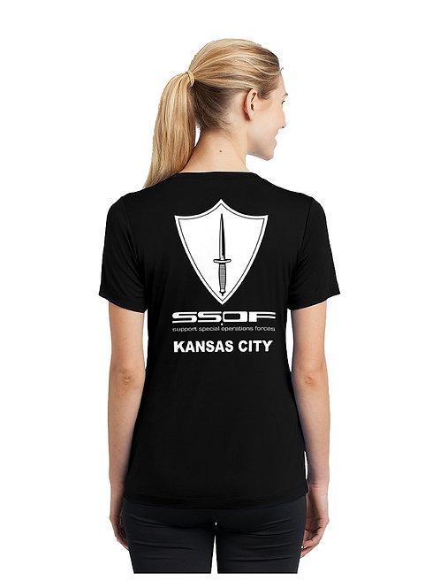SSOF Ladies V-Neck Performance T-Shirt