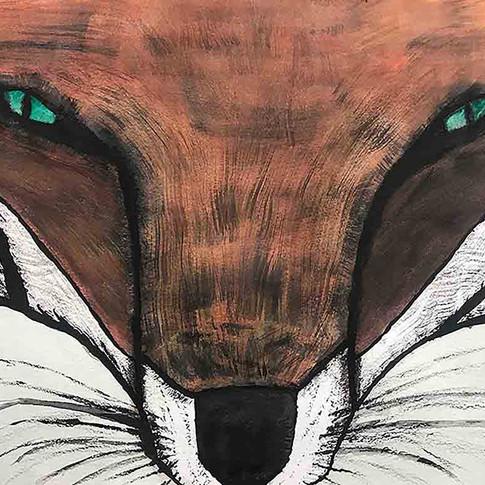Fox Face Watercolor