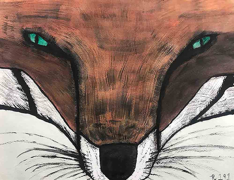Fox Face Watercolor by Ryan Martinez aka Riker191