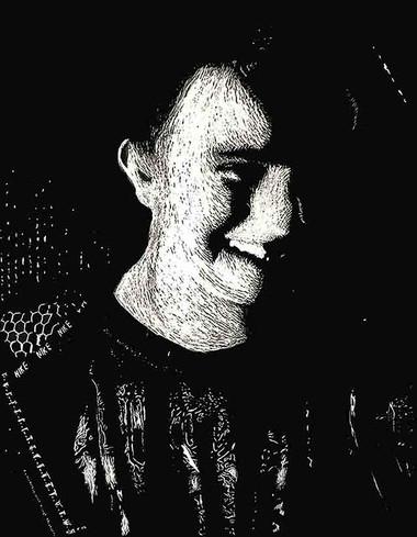 Self-Portrait Scratchboard