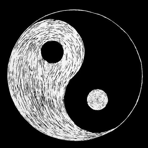 Yin and Yang Scratchboard