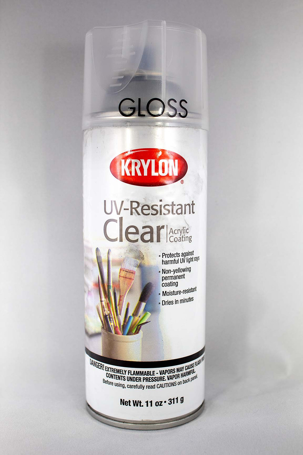 Krylon Glossy UV-Resistant Crystal Clear Acrylic Coating