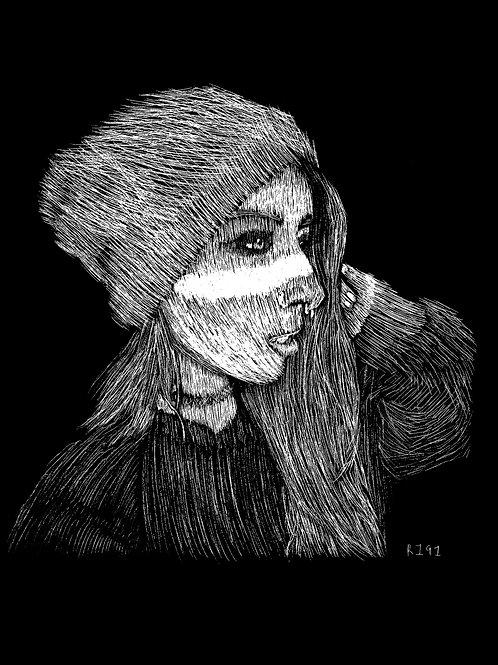 Skyhookart / Skyhook Suicide Scratchboard Portrait