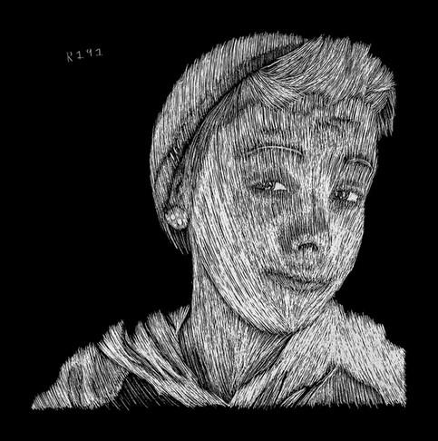 Spencer Scratchboard Portrait