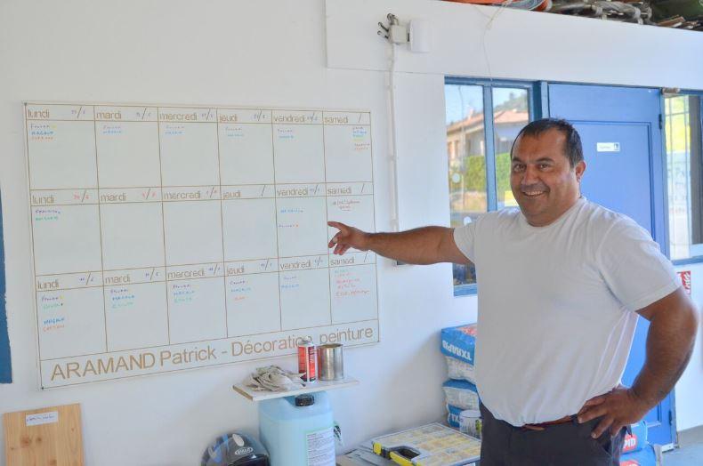 Planning des salariés mis en place par le Conseiller Rivalis