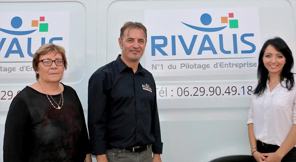 Dominique, Vincent et Caroline Voinot (Directrice Générale de Rivalis)