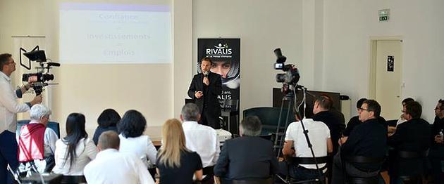 Damien Valdan lors de la Conférence de presse