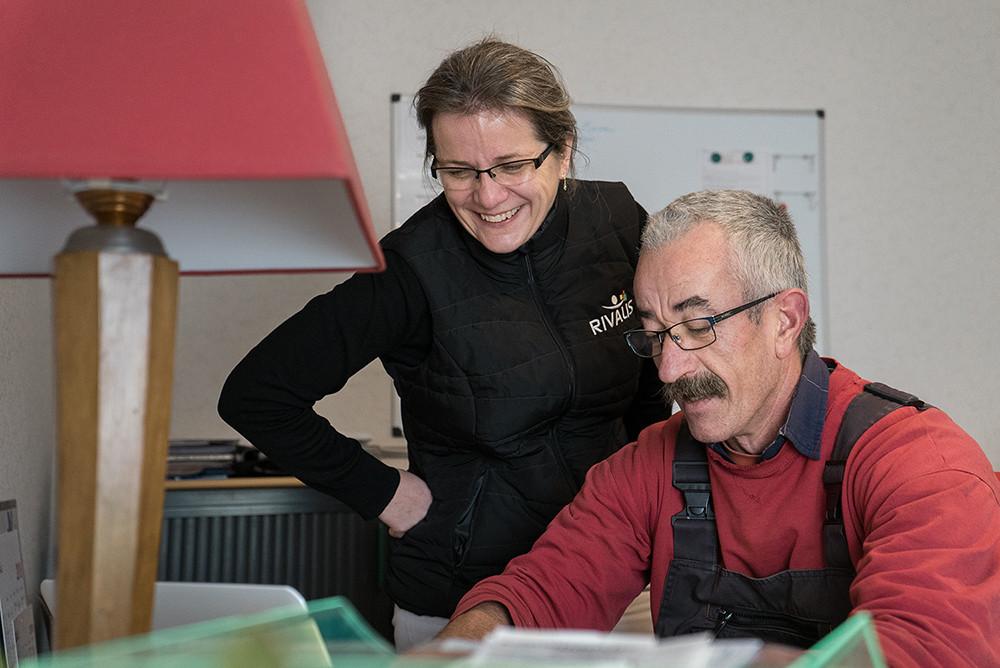 Nathalie et son client, Jean-François