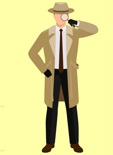 homme loupe detective