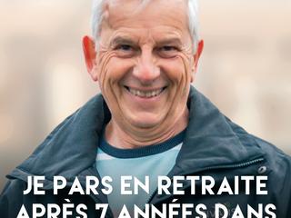 Gilbert veut profiter de sa retraite après 7 ans passés dans le réseau Rivalis