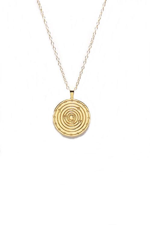 Medallón Solar System Oro
