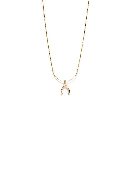 Collar Wishbone Oro